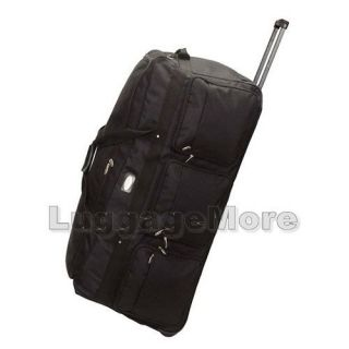 42 1200D Heavy Duty Jumbo Wheeled Rolling Duffel Bag Luggage Sport