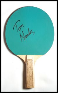Tom Hanks Forest Gump Autographed Ping Pong Paddle