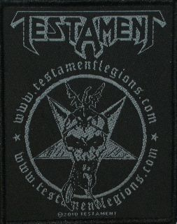 Testament Legions Heavy Metal Music Band Woven Patch