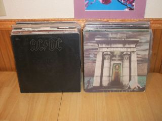 Lot of Over 70 Rock and Heavy Metal Vinyl Records