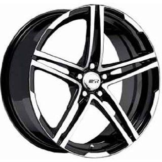 MSR 48 18x7.5 Machined Black Wheel / Rim 5x112 with a 42mm Offset and
