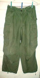 US ARMY VIETNAM ERA? MENS FIELD TROUSERS PANTS~REGULAR SMALL USED