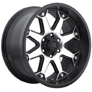 Ultra Bolt 17x8 Machined Black Wheel / Rim 5x5.5 with a 20mm Offset