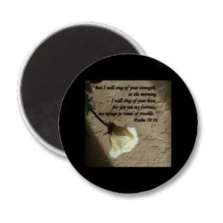 Designs By Judith Heath ~ Christian Faith Art ~ Psalm 5916 White Rose