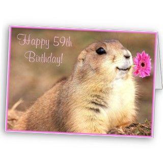 Happy 59th Birthday Prairie dog greeting card