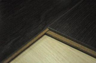 Black Pad Attached High Gloss Beveled AC3 Laminate Wood Flooring
