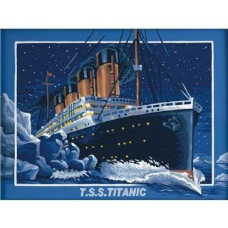 Titanic Paint by Number Kit Toys & Games