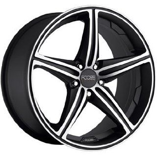Foose Speed 18x8 Black Wheel / Rim 5x112 with a 42mm Offset and a 66