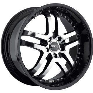 Prado Dante 18 Black Wheel / Rim 5x4.5 & with a 25mm Offset and a 73.1