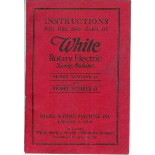 Model Number 41 White Sewing Machine Company Books