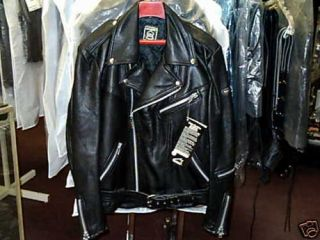 Hein Gericke Leather Motorcycle Jacket Mens Sz 40 42