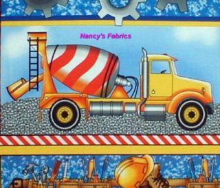 hard hats construction vehicles fabric panel 5450
