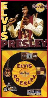 Hard Rock Cafe Elvis Presley 1977 2002 25th Anniversary 5 Pin Boxed
