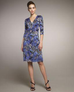 Rena Lange Floral Print Jersey Dress