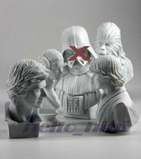 tomy star wars plaster statue collection set 4p