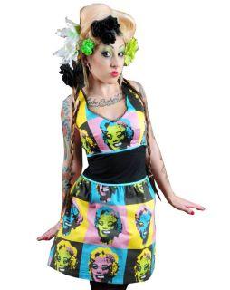 Too Fast Zombie Warhol Hilda Dress Rockabilly Pin Up Gothic Punk