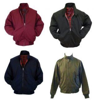 New Relco Harrington Jacket with Red Tartan Lining Black Burgundy Navy