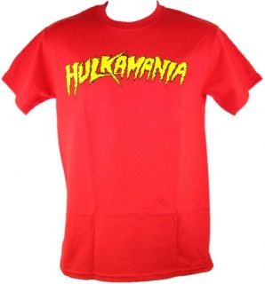 Red Hulk Hogan Hulkamania T Shirt New