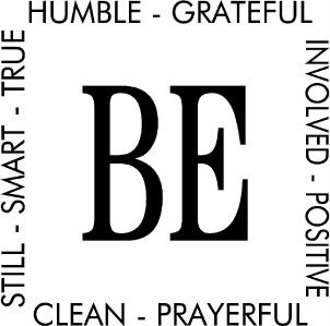 hinckley be wall lettering sticker vinyl decal words