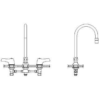 Double Handle 1.5GPM Ceramic Disc Below Deckmount Kitchen Faucet with