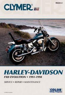 Clymer Repair Manual Harley Dyna Glide Dynaglide 91 98