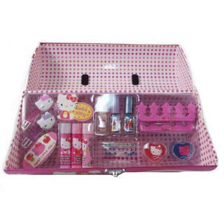 Hello Kitty Roll Box Cosmetic Make Up & Pedicure Pretend Play