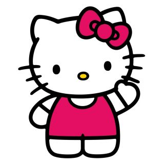 New Giant World of Hello Kitty Wall Decals Girls Bedroom Stickers