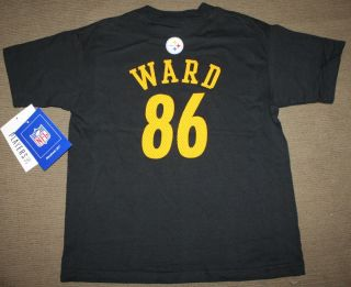HINES WARD Jersey Shirt Kids Reebok PITTSBURGH STEELERS Medium Size 5