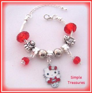Hello Kitty Little Girls Charm Bead Bracelet
