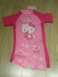 Girls Hello Kitty Sun Suit Swimwear Costume Ages 3 4 5 6 7 8 9 10 Yrs
