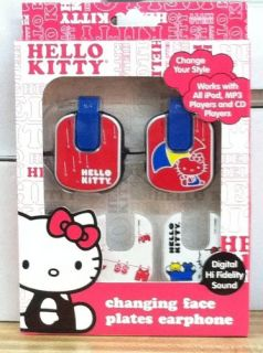 Hello Kitty Earphones Red Headphones DJ Bass iPod  Earphones Day