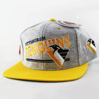 Penguins Vintage Snapback Hat Heather Cap Taylor Gang Mac Miller NEW