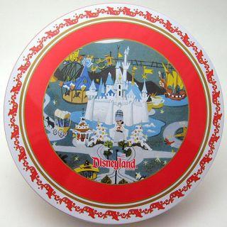 Disneyland Christmas Holiday Tin Plate Set x 2 Mickey Donald Goofy