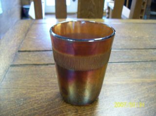 Antique Carnival Iridescent Glass Tumbler, Collectible, Very Different