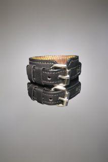 HEAVY LEATHER NYC cuff band Wylde metal black NEW bracelet zach biker