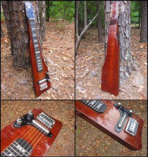 Custom Built 6 String Lap Steel Guitar Builder Demo