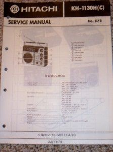 Hitachi Service Manual KH 1130H 1130C Portable Radio