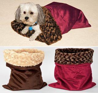 Cozy Pet Sack Dog Cat Bed Sleeping Bag Snuggle Carrier