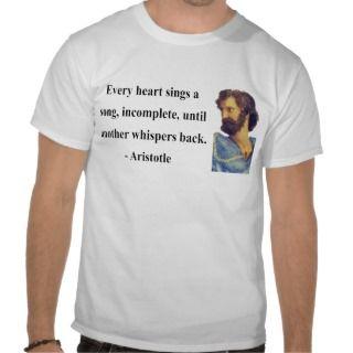 Aristotle Quote 3b T Shirt