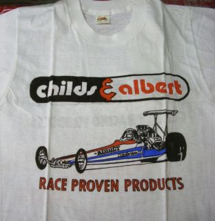 Childs Albert Addict Nitro Top Fuel Dragster Vintage T Shirt NHRA AHRA