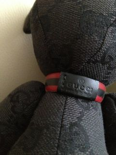 Authentic Gucci Monogram Stuffed Teddy Bear Limited Edition Black