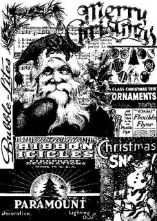 Tim Holtz ATC Size Cling Rubber Stamp COM026 FIRST CHRISTMAS
