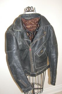 Vintage Firstgear by Hein Gericke Motorcycle Leather Jacket Size