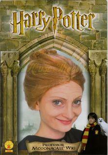 Harry Potter Professor Mcgonagall Brown Wig Halloween Costume