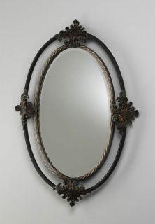 Wall Mirror Decorative Iron Frame Mystic Gold Finish Home Decor