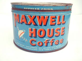 Maxwell House Coffee Tin General Store Hoboken NJ