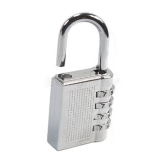 Password Lock Combination Zinc Alloy Padlock Silver Number Locks