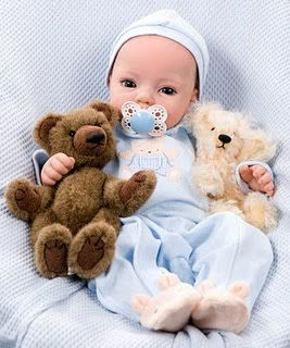 New Reborn Doll Kit Huggy Bear by Dianna Effner Two Eyes Option Pre