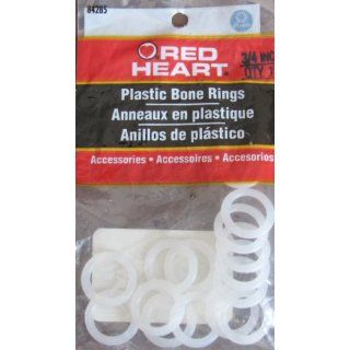 Red Heart ROUND PLASTIC BONE RINGS 3/4 Size (Coats
