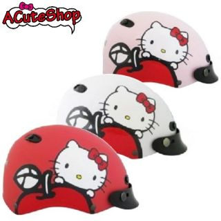 Hello Kitty Motor Bike Helmet Apple Pink White Hotpink Sanrio